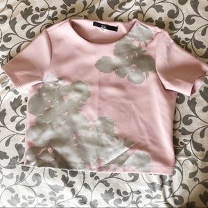Bedo pink and silver top, short sleeve